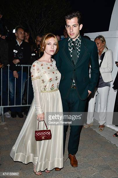 Josephine de La Baume and Mark Ronson attend the Chanel Vanity Fair party during the 68th annual Cannes Film Festival on May 20 2015 in Cannes France
