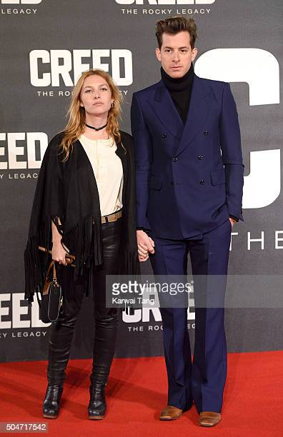 Josephine De La Baume and Mark Ronson attend the European Premiere of 'Creed' on January 12 2016 in London England