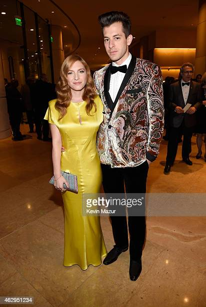 Josephine de La Baume and Mark Ronson attend the PreGRAMMY Gala And Salute To Industry Icons Honoring Martin Bandier at The Beverly Hilton on...