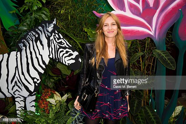 Josephine de la Baume arrives at Roger Vivier Summer Party at Loulou's on May 22 2014 in London England