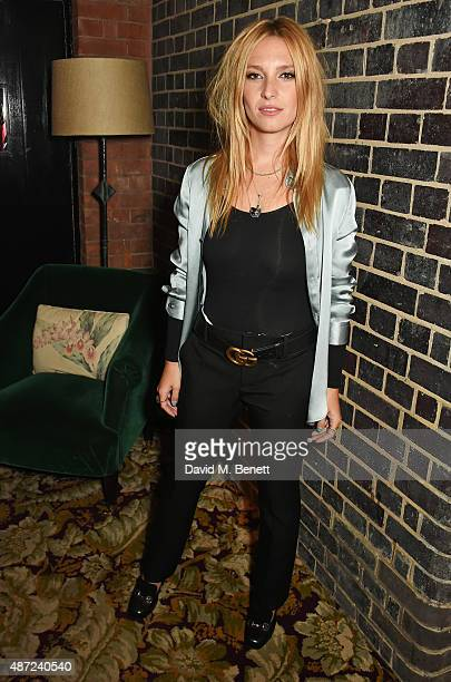 Josephine de La Baume attends a dinner party hosted by Leith Clark to celebrate the latest issue of her biannual style bible 'Violet' featuring...