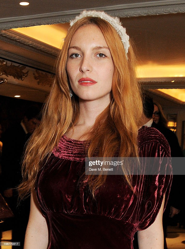 Josephine de la Baume attends a drinks reception at the Amy Winehouse Foundation Ball held at The Dorchester on November 20, 2012 in London, England.