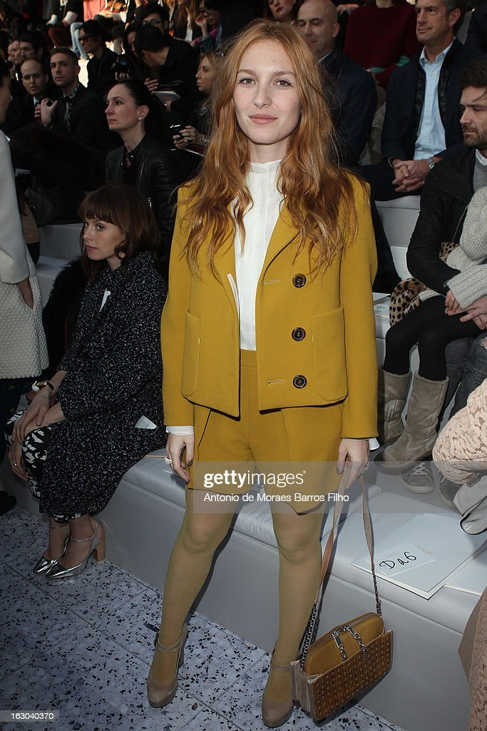 Josephine de la Baume attends the Chloe Fall/Winter 2013 Ready-to-Wear show as part of Paris Fashion Week on March 3, 2013 in Paris, France.