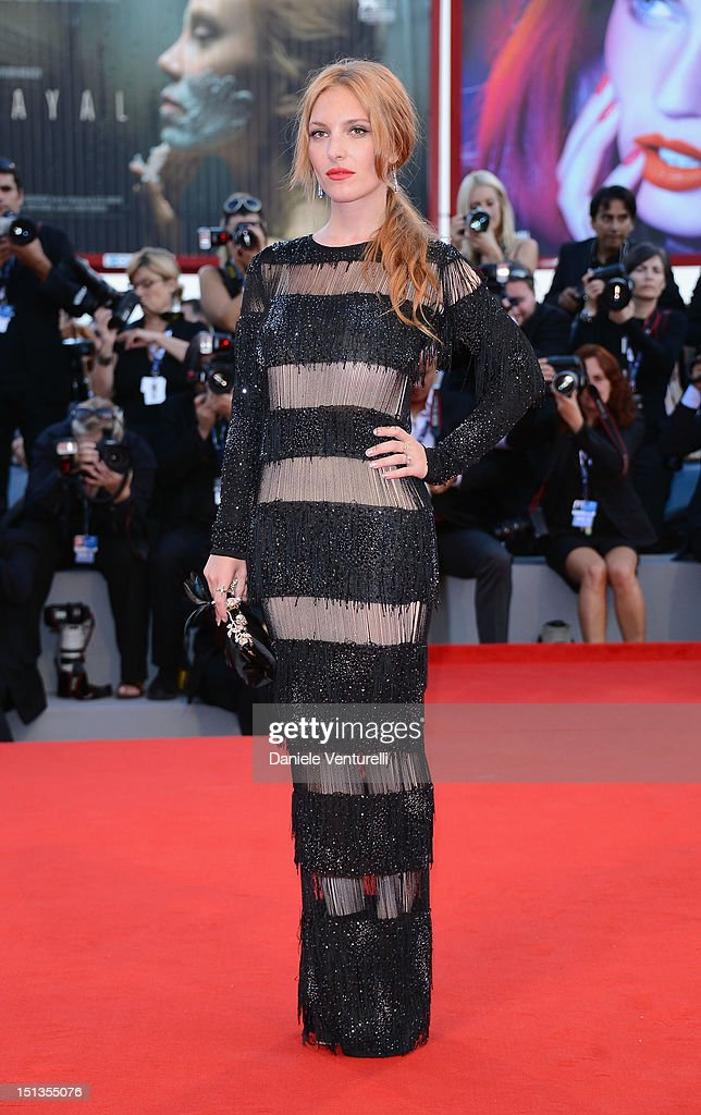 Josephine de La Baume attends 'The Company You Keep' Premiere during The 69th Venice Film Festival at the Palazzo del Cinema on September 6 2012 in...