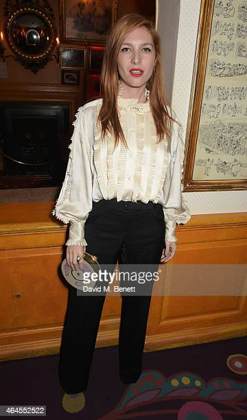 Josephine de la Baume attends the Mert Marcus House of Love party for Madonna at Annabel's on February 26 2015 in London England