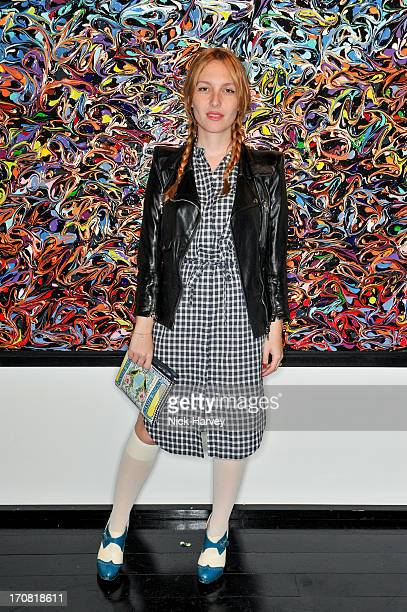 Josephine de la Baume attends the Unspoken fundraising event in aid of DiversityInCare at The Groucho Club on June 18 2013 in London England