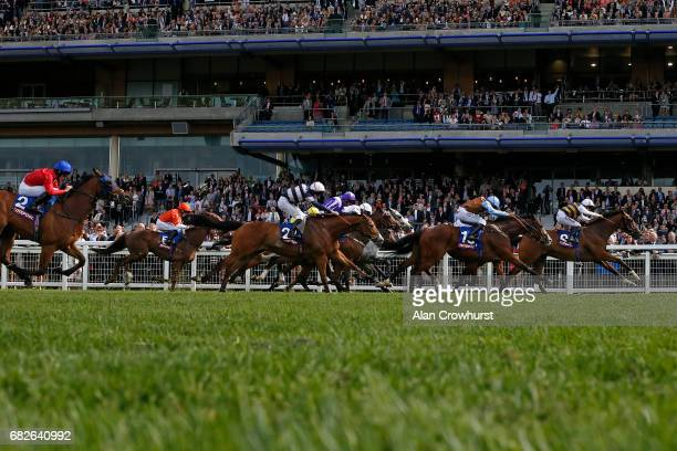 Josephine Gordon riding Fastnet Tempest win The Totescoop6 Victoria Cup at Ascot Racecourse on May 13 2017 in Ascot England