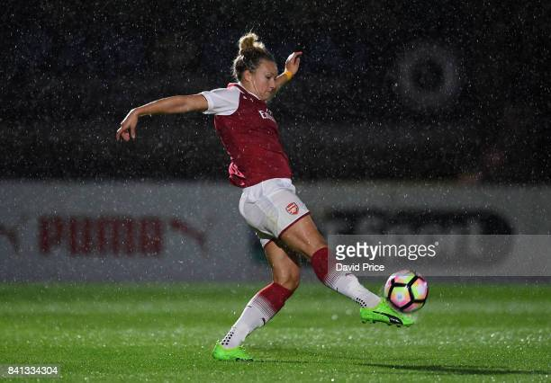 Josephine Henning of Arsenal during the match between Arsenal Women and Everton Ladies at Meadow Park on August 31 2017 in Borehamwood England