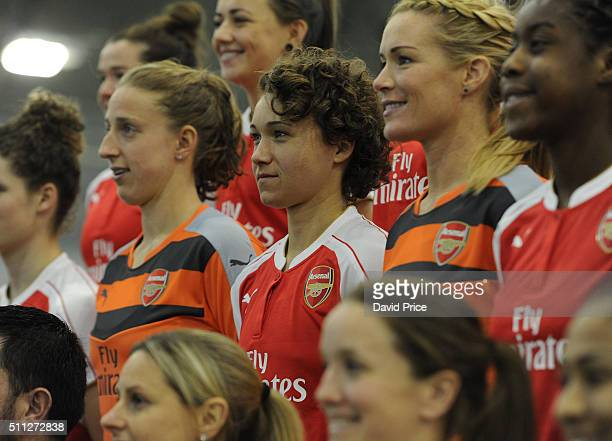 Josephine Henning of Arsenal Ladies during the Arsenal Ladies team picture at London Colney on January 29 2016 in St Albans England