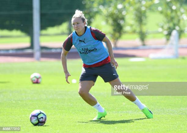 Josephine Henning of Arsenal Women during an Arsenal Women Training Session at London Colney on August 25 2017 in St Albans England