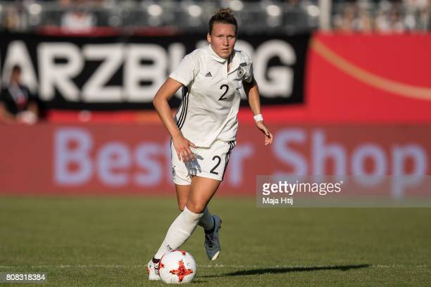 Josephine Henning of Germany controls the ball during the Women's International Friendly match between Germany and Brazil at BWTStadion am Hardtwald...
