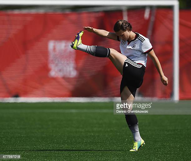 Josephine Henning of Germany practices during a training session at Wesley Clover Park on June 18 2015 in Ottawa Canada