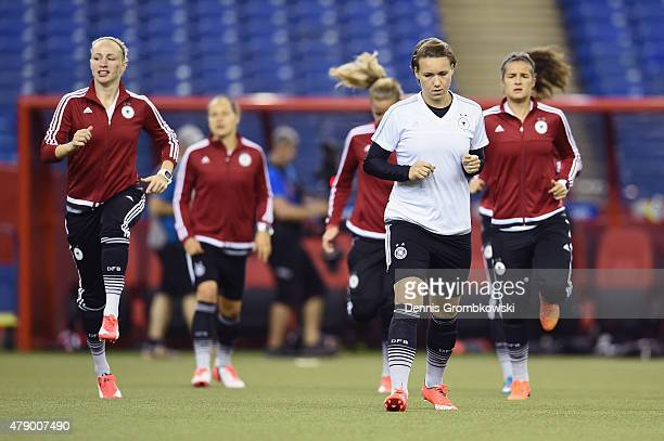 Josephine Henning of Germany practices during a training session at Olympic Stadium ahead of their semi final match against the United States on June...