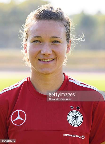 Josephine Henning poses during the Germany Women's team presentation on September 13 2016 in Frankfurt am Main Germany