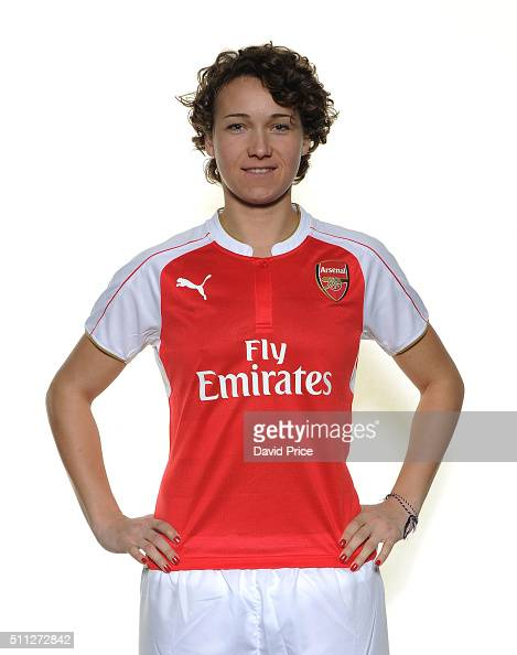Josephine Henning signs for Arsenal Ladies at London Colney on January 29 2016 in St Albans England