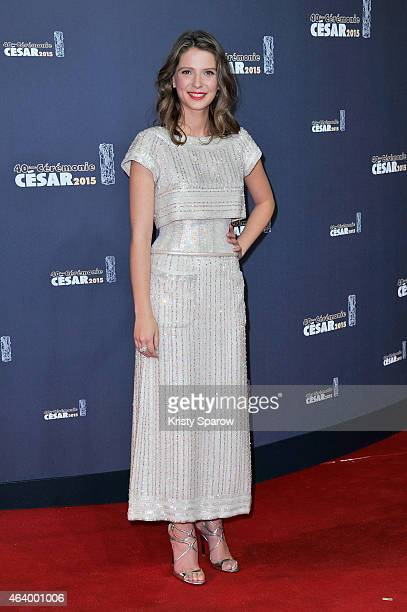 Josephine Japy attends the 40th Cesar Film Awards at Theatre du Chatelet on February 20 2015 in Paris France