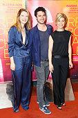 Josephine Japy Jeremie Elkaim and Marina Fois attend 'Irreprochable' Paris Premiere at UGC Cine Cite des Halles on June 30 2016 in Paris France