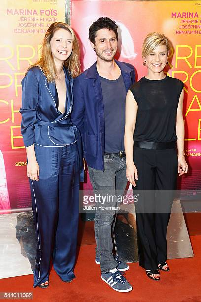 Josephine Japy Jeremie Elkaim and Marina Fois attend 'Irreprochable' Paris Premiere at UGC Cine Cite des Halles on June 30 2016 in Paris France