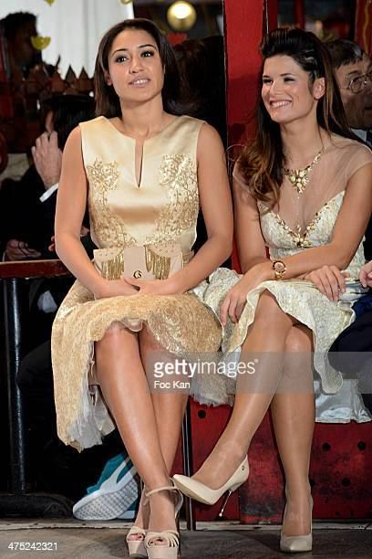 Josephine Jobert and Flavie Pean attend the Christophe Guillarme show as part of the Paris Fashion Week Womenswear Fall/Winter 20142015 at Balajo on...