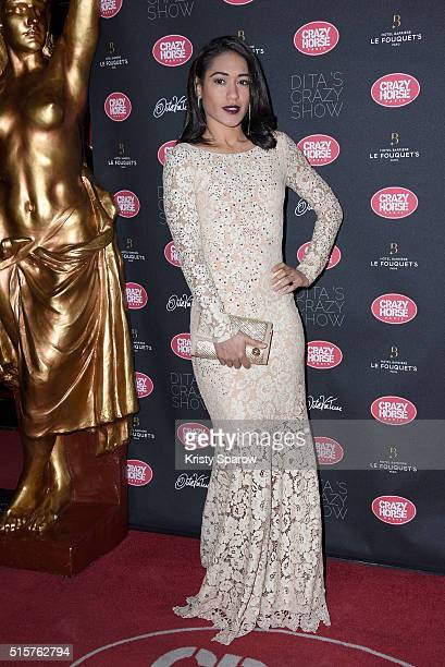 Josephine Jobert attends the 'Dita Von Teese's Crazy Show' opening night photocall at Le Crazy Horse on March 15 2016 in Paris France