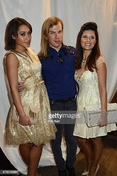 Josephine Jobert designer Christophe Guillarme and Flavie Pean attend the Christophe Guillarme show as part of the Paris Fashion Week Womenswear...