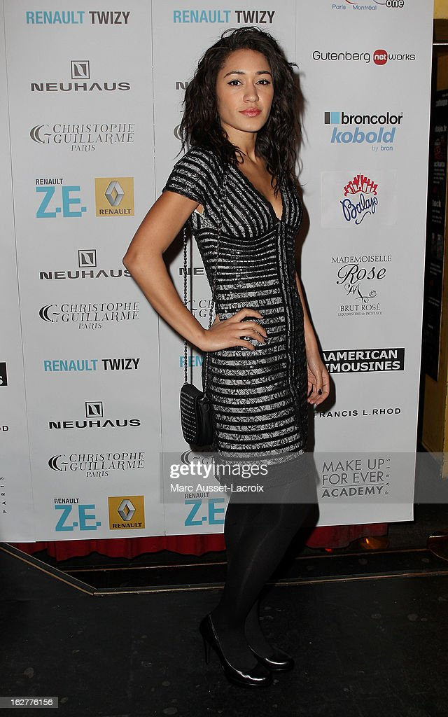 Josephine Jobert poses during the Christophe Guillarme Fall/Winter 2013 Ready-to-Wear show as part of Paris Fashion Week on February 26, 2013 in Paris, France.