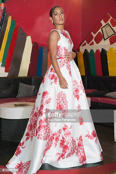 Josephine Jobert poses during the Christophe Guillarme show as part of the Paris Fashion Week Womenswear Spring/Summer 2017 on September 28 2016 in...