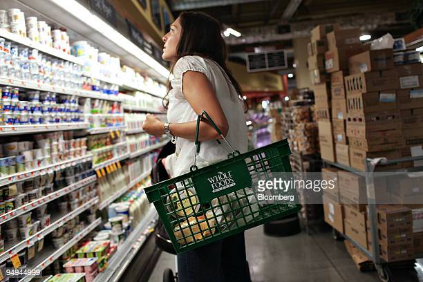 Josephine Mazzarella shops inside a Whole Foods Market in New York US on Wednesday May 13 2009 Whole Foods Market Inc is scheduled to release its...