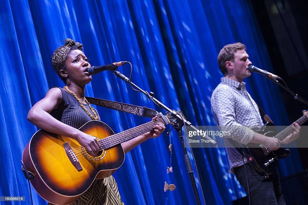 Josephine performs on stage at the Civic Hall on February 2, 2013 in Wolverhampton, England.