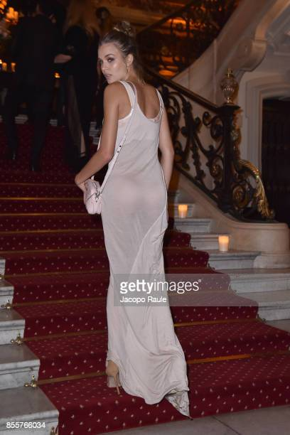 Josephine Skriver attends 20 Years Of MariaCarla Party as part of the Paris Fashion Week Womenswear Spring/Summer 2018 on September 29 2017 in Paris...