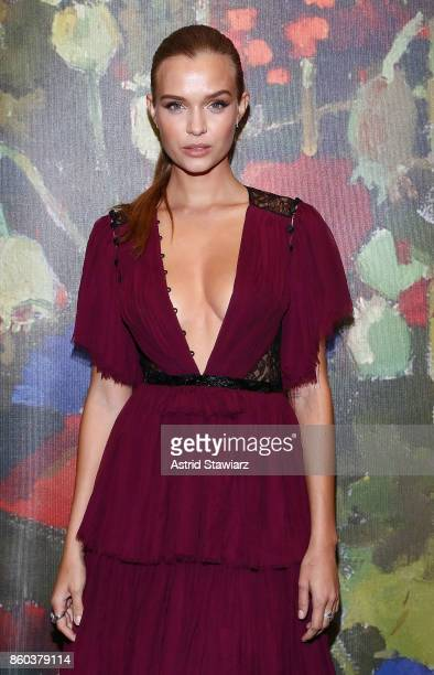 Josephine Skriver attends 2017 Take Home A Nude Art party and auction at Sotheby's on October 11 2017 in New York City