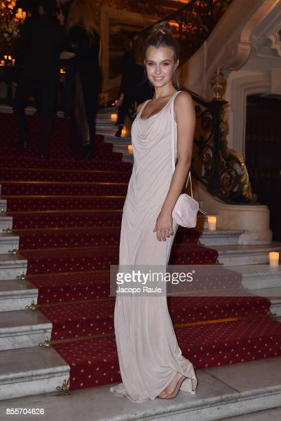 Josephine Skriver attends the 20 Years Of MariaCarla Party as part of the Paris Fashion Week Womenswear Spring/Summer 2018 on September 29 2017 in...