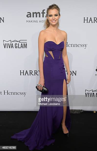 Josephine Skriver attends the 2015 amfAR New York Gala at Cipriani Wall Street on February 11 2015 in New York City