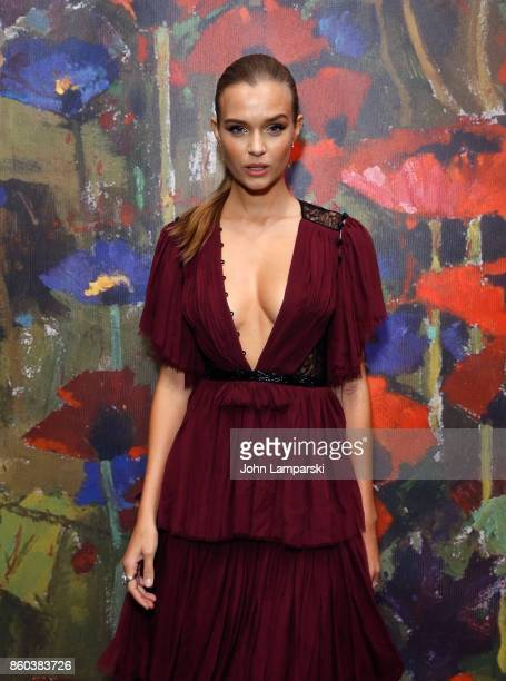 Josephine Skriver attends the 2017 Take Home A Nude Art Party and auction at Sotheby's on October 11 2017 in New York City
