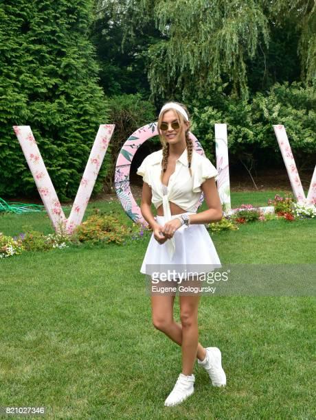 Josephine Skriver attends the FIJI Water at #REVOLVEintheHamptons 2017 on July 22 2017 in Bridgehampton New York