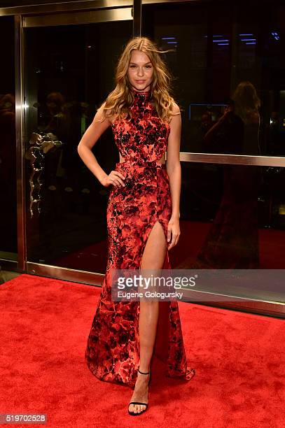 Josephine Skriver attends the New Yorkers For Children's Spring Dinner Dance A Fool's Fete at Mandarin Oriental New York on April 7 2016 in New York...