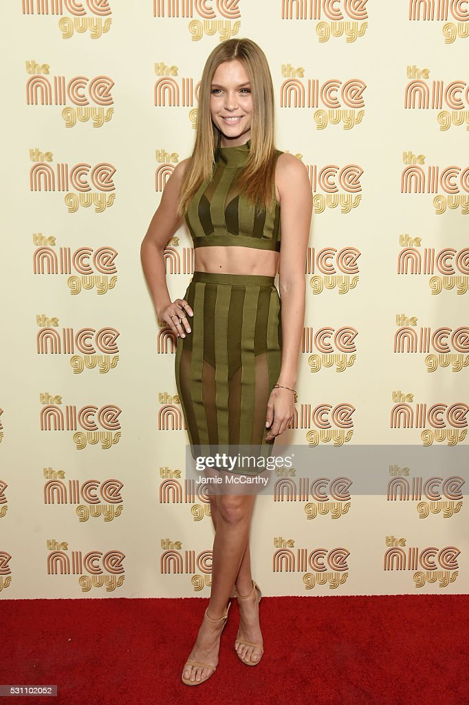 Josephine Skriver attends 'The Nice Guys' New York Screening at Metrograph on May 12, 2016 in New York City.