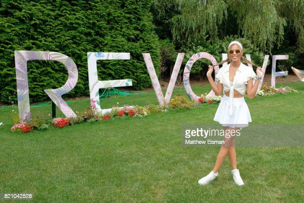 Josephine Skriver celebrates #REVOLVEintheHamptons Close Out Party with Moet Chandon on July 22 2017 in Bridgehampton New York