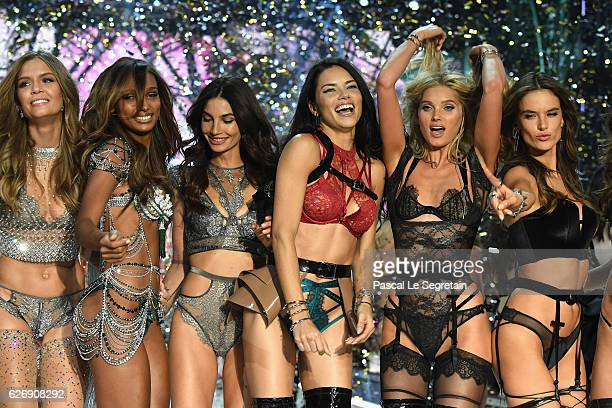 Josephine Skriver Jasmine Tookes Lily Aldridge Adriana Lima Elsa Hosk and Alessandra Ambrosio walk the runway at the Victoria's Secret Fashion Show...