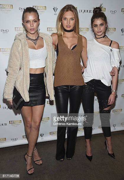 Josephine Skriver Romee Strijd and Taylor Hill attend Behati Juicy Couture Black Label Launch at PHD Rooftop Lounge at Dream Downtown on March 23...