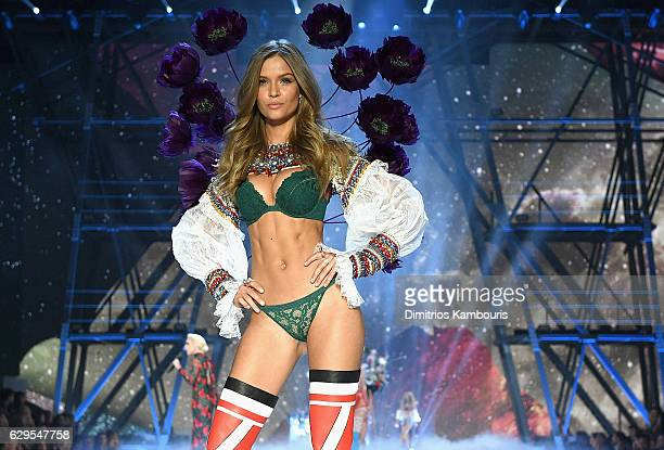 Josephine Skriver walks the runway during the 2016 Victoria's Secret Fashion Show on November 30 2016 in Paris France