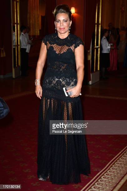 Josephine Zapata Genetay attends a private dinner on the eve of the wedding of Princess Madeleine and Christopher O'Neill hosted by King Carl XVI...