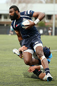 Joseva Ravouvou looks for the line for College Rifles during the match between College Rifles and Grammar TEC at College Rifles on July 23 2016 in...