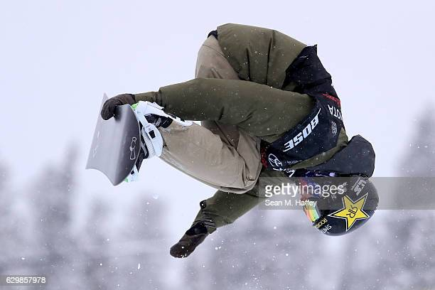 Josey Chase competes in the qualifying round for the 2017 US Snowboarding Grand Prix at Copper Mountain on December 14 2016 in Copper Mountain...