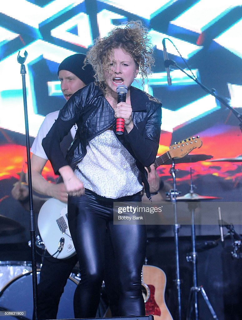 Josey Roberts performs at the 'Rock Of Ages' Broadway Cast Reunion Concert at Highline Ballroom on January 25 2016 in New York City