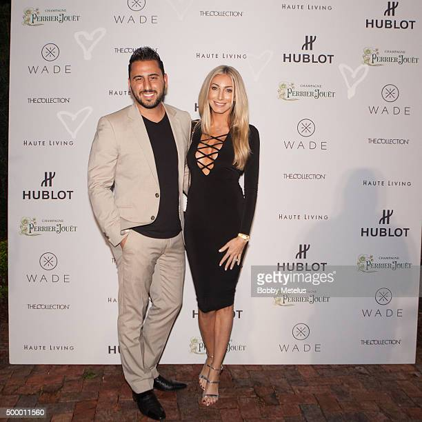 Josh Altman and Heather Bilyeu at Hublot Haute Living Toast Art Basel with Private Dinner hosted by Dwyane Wade Gabrielle Union on December 4 2015 in...