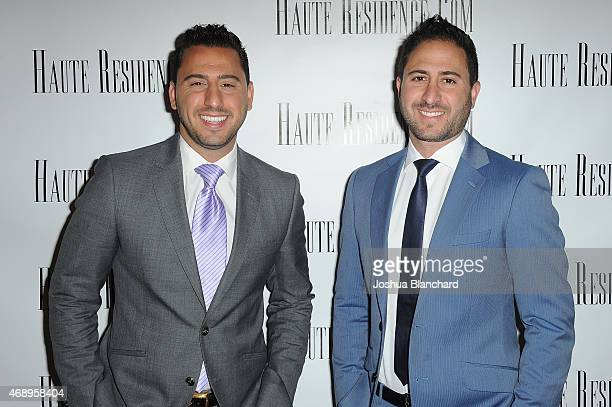 Josh Altman and Matt Altman arrive at the HauteResidencecom Los Angeles Luxury Real Estate Summit at The London West Hollywood on April 8 2015 in...