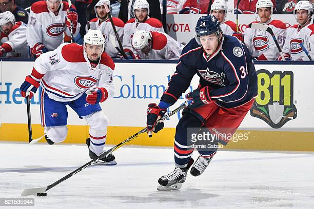 Josh Anderson of the Columbus Blue Jackets skates against the Montreal Canadiens on November 4 2016 at Nationwide Arena in Columbus Ohio Columbus...