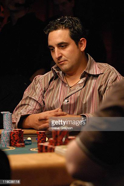 Josh Arieh comtemplates his hand during the final round of the 2004 World Series of Poker at Binion's Horseshoe Club and Casino in Las Vegas Nevada...