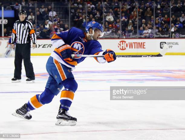 Josh Bailey of the New York Islanders skates against the Carolina Hurricanes at the Barclays Center on November 16 2017 in the Brooklyn borough of...